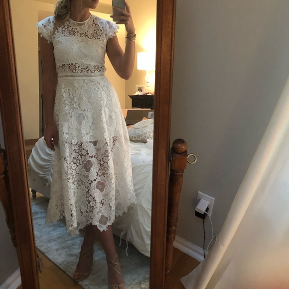 Karina Grimaldi Dresses & Skirts - Karina Grimaldi Lace Midi Dress